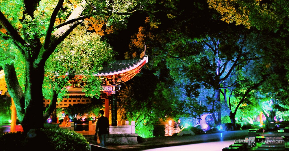 Guilin Night Lights by Glennis  Siverson