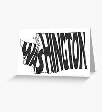 Washington State Word Art Greeting Card