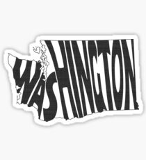 Washington State Word Art Sticker
