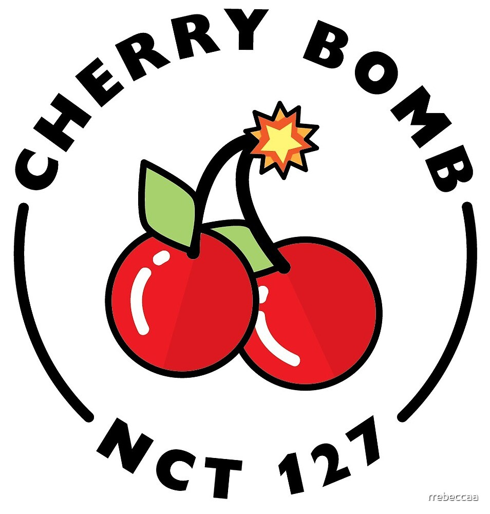 nct 127 cherry bomb logo by rrebeccaa redbubble