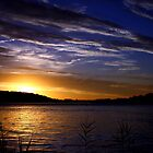 SUNSET OVER THE CLARENCE RIVER by myraj