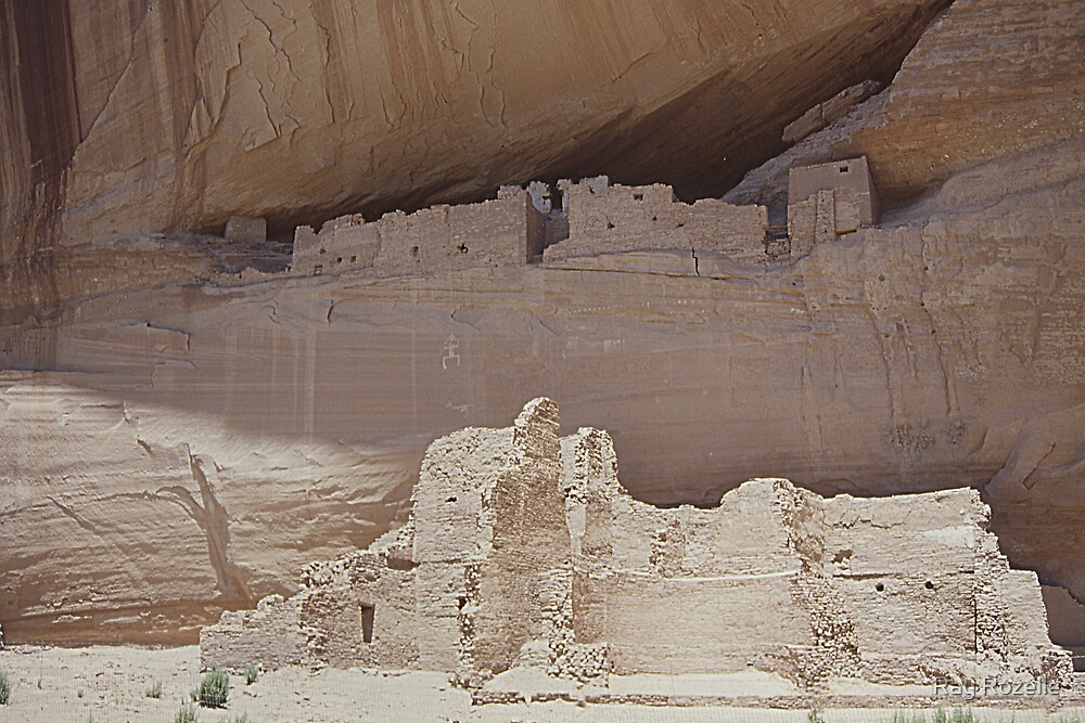 Indian Ruins/ Canyon de Chinle  by Ray Rozelle