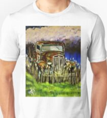 Grandpa's Truck Pickup Antique Work Farm Ranch  Ford Chevy Dodge Old Original Painting Unisex T-Shirt