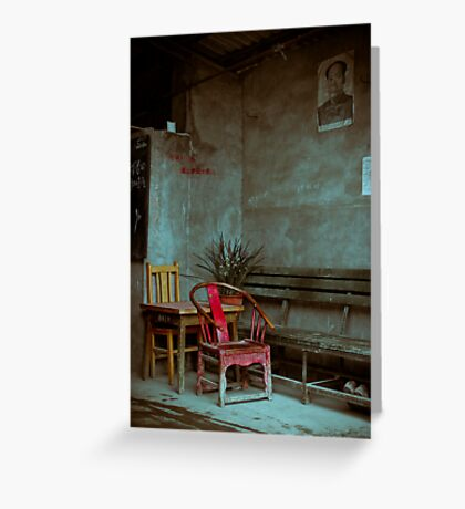Red Chair Greeting Card