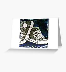 High Top Heaven Converse Canvas Gym Shoes Tennis Running Jogging Basketball Track Sports  Greeting Card