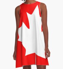Canada - Maple Leaf A-Line Dress