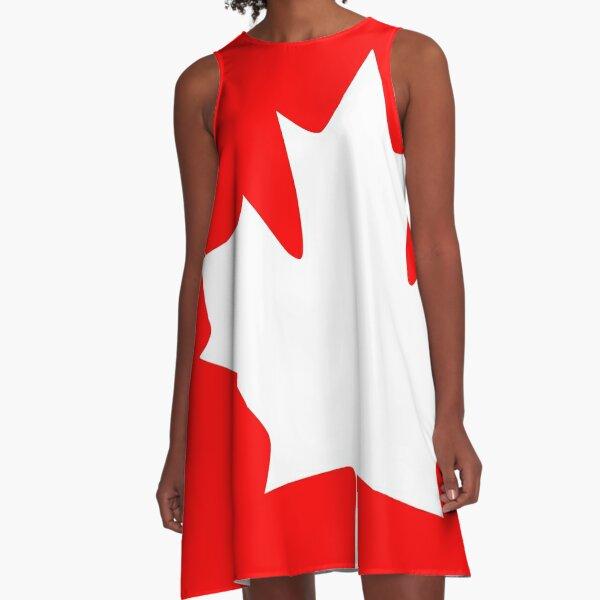 Canada - Maple Leaf A-Line Dress