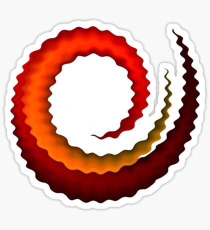 Rippled Swirl Sticker