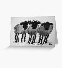Inky Sheep 4 Greeting Card