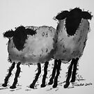 Inky Sheep 2 by TraceyMackieArt