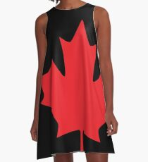 Canada - Maple Leaf (Red) A-Line Dress