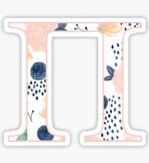 Floral Pi Sticker