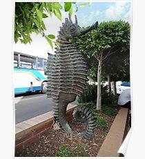 Sea Horse Sculpture, Merimbula,NSW,Australia 2011 Poster