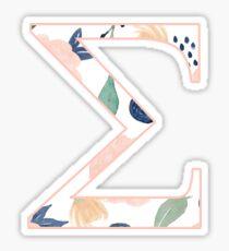 Floral Sigma Sticker