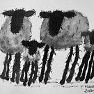 Inky Sheep 1 by TraceyMackieArt