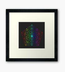 Abstract Geometry: Rainbow Fractal Framed Print