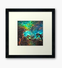 Green Nebula Framed Print