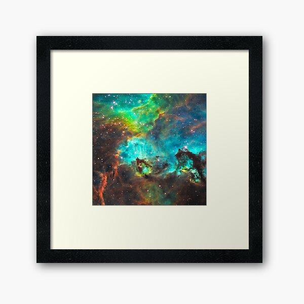 Green Nebula Framed Art Print