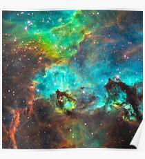 Green Nebula Poster