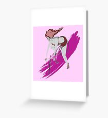 Bubblegum Biker Greeting Card