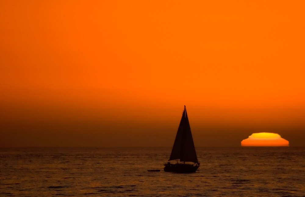 Sailing into the Sun by justincase724