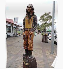 """The Airman"" sculpture, Moruya,NSW,Australia 2011 Poster"