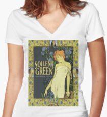 SOILENT GREEN - SEWN MOUTH SECRETS Women's Fitted V-Neck T-Shirt