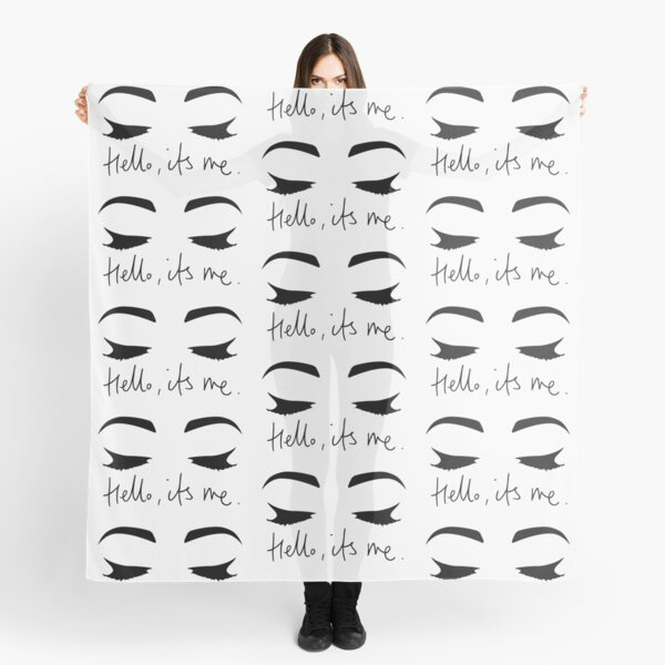 Hello..Its Me (Eyes Closed)   ADELE  Scarf