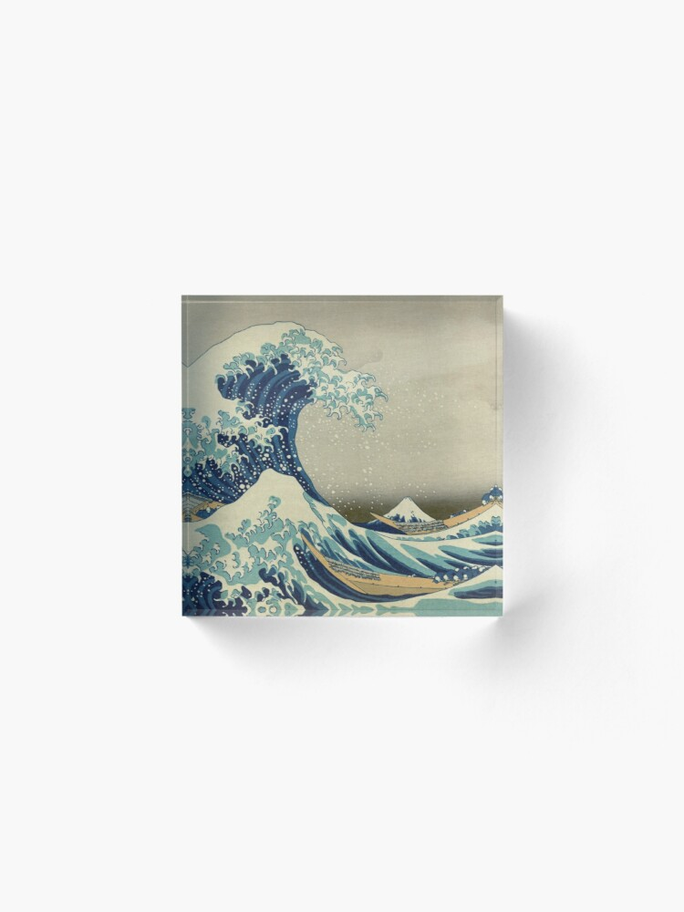 Alternate view of The Classic Japanese Great Wave off Kanagawa by Hokusai Acrylic Block