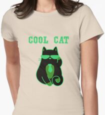 Cool Cat 2 Womens Fitted T-Shirt