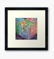 Rubiks Cubicle Framed Print