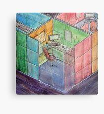 Rubiks Cubicle Metal Print