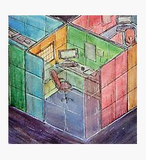 Rubiks Cubicle Photographic Print