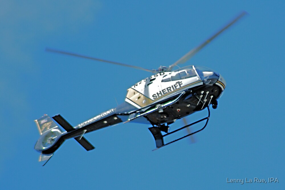 Sac County Sheriff's chopper by Lenny La Rue, IPA