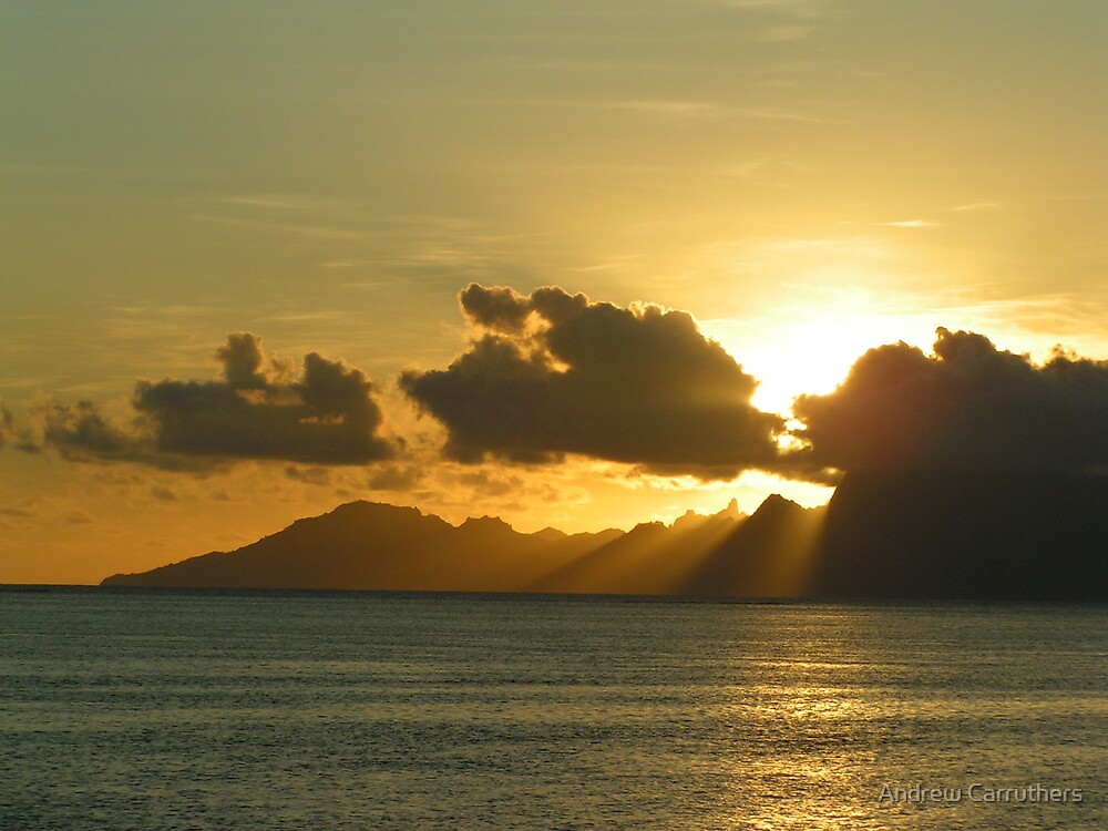 Tahiti Sunset by Andrew Carruthers