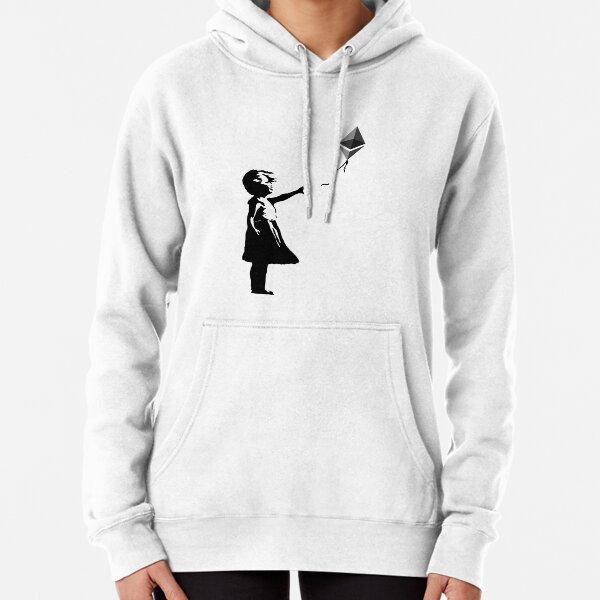 Ethereum Balloon Girl - Banksy Loves Bitcoin Series (the ORIGINAL design) Pullover Hoodie