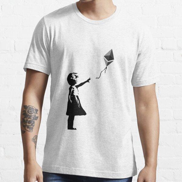 Ethereum Balloon Girl - Banksy Loves Bitcoin Series (the ORIGINAL design) Essential T-Shirt