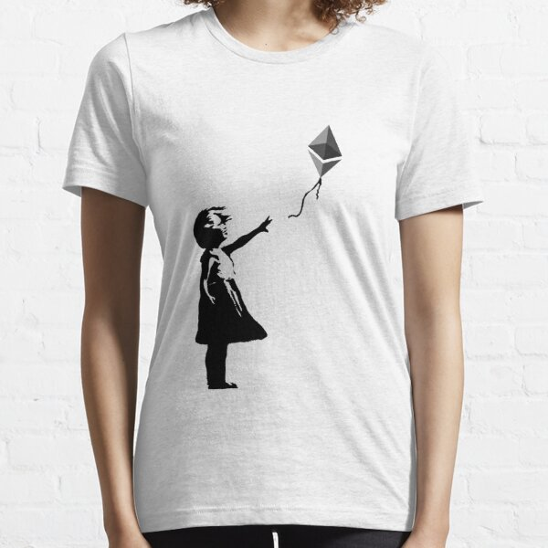 Ethereum Balloon Girl - Banksy Loves Bitcoin Series (the ORIGINAL design) Essential T-Shirt