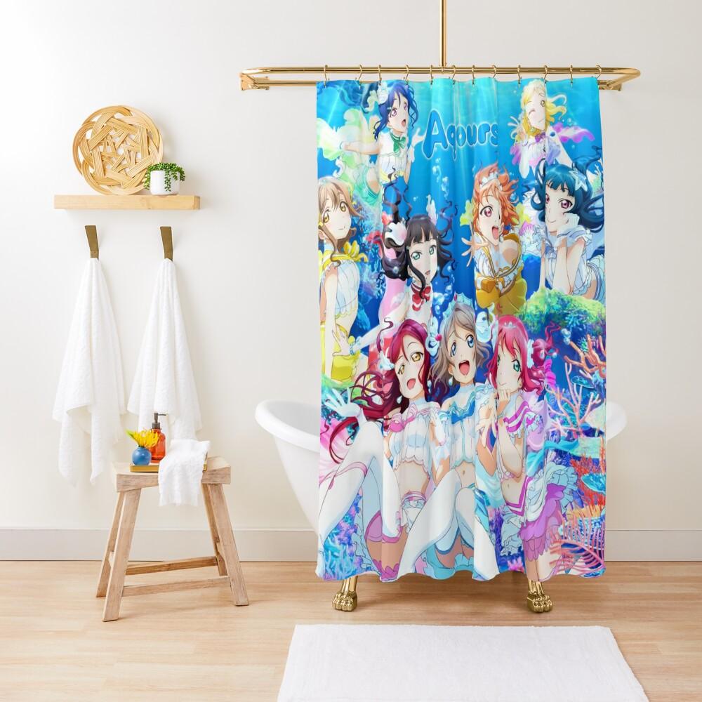 Love Live! Sunshine!! - Koi ni Naritai AQUARIUM Shower Curtain