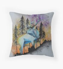Sunrise elk Throw Pillow