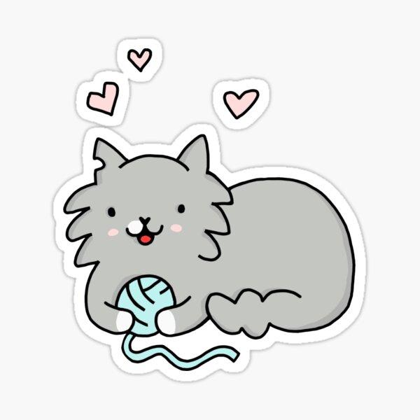 Carl With Yarn Sticker