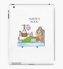 Nurses Rock funny cartoon iPad Case/Skin