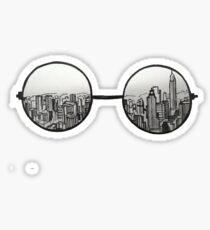 Skyline glasses Sticker
