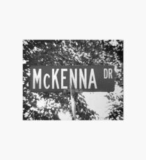 A Street Sign for the McKenna Family Art Board