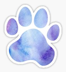 Blue and Purple Paw Print  Sticker