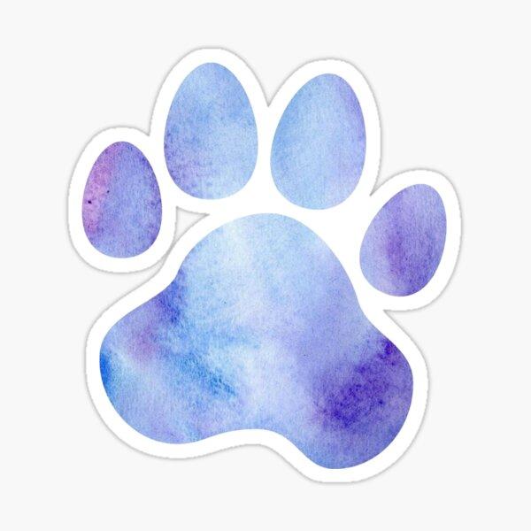 Blue and Purple Paw Print  Sticker