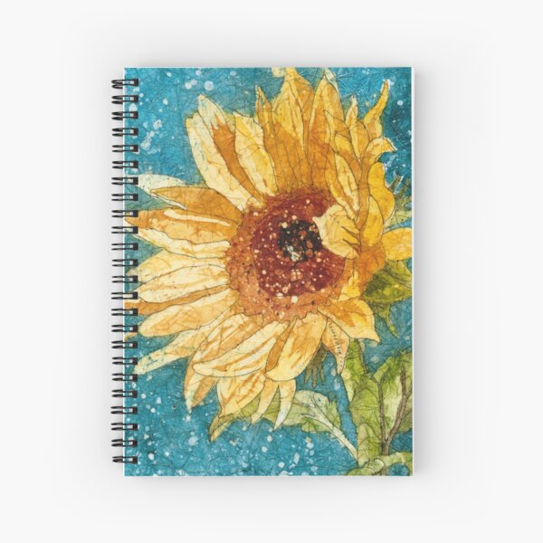 Sunflower Daze 1` Spiral Notebook