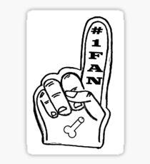 Foam Finger -- #1 Fan of Dick Sticker