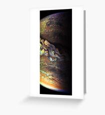 Surfing Jupiter Greeting Card