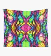 Colorful Tube Worms in Symmetry Wall Tapestry